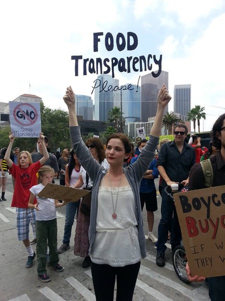 Ciara Colby Caneega in Los Angeles sends a clear message to Monsanto!